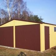 garaz blaszany dwuspad premium plus drzwi boczne i okno