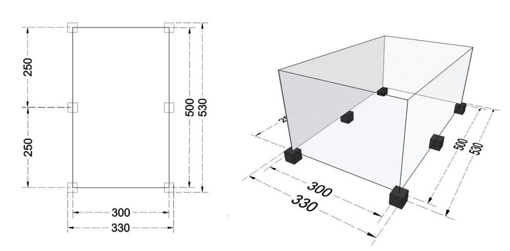 Przygotowanie podłoża na bloczkach betonowych/ fundamentowych.